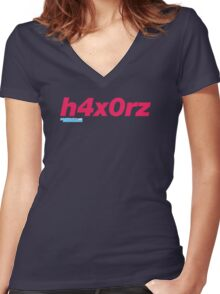 h4x0rz Women's Fitted V-Neck T-Shirt