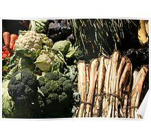 Lettuce Cabbage Cauliflower Poster