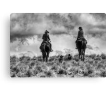 Mustering on Balmoral Station Canvas Print