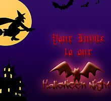 Halloween party Invite by CardZone By Ian Jeffrey
