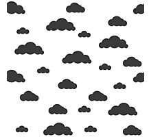 Black clouds on white Photographic Print