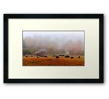 Good 'Moo'rning Framed Print