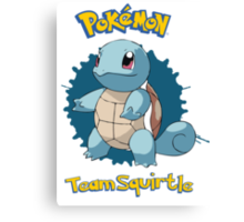 Team Squirtle - Pokemon X Y Canvas Print
