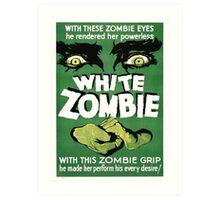 white zombie Art Print