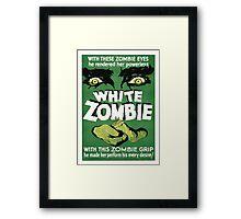 white zombie Framed Print