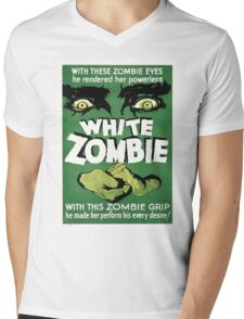 white zombie Mens V-Neck T-Shirt