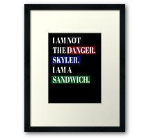 BREAKING BAD SANDWICH Framed Print