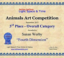 """3rd Place Overall Category-Animals Competition-""""Fourth Dimension"""" by Susan Werby"""