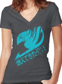 Fairy Tail - Moete Kitazo! Women's Fitted V-Neck T-Shirt