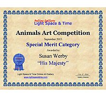 "Special Merit Category-Animals Competition-""His Majesty"" Photographic Print"