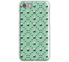 Studded Checkerboard Light on Mediterranean Mint 1 iPhone Case/Skin