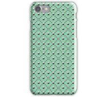 Studded Checkerboard Light on Mediterranean Mint 1@50 iPhone Case/Skin