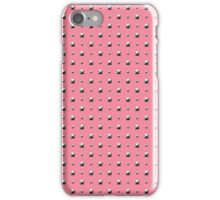 Studded Double Polka stud on Coral Pink 1@50 iPhone Case/Skin