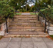 FORRES STEPS FROM THE GARDEN by JASPERIMAGE