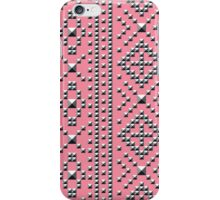 Studded Southwest Stripe on Coral Pink 1 iPhone Case/Skin