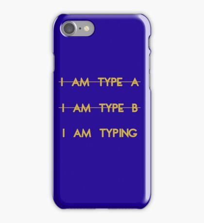 My personality type iPhone Case/Skin