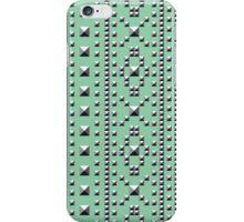 Studded Southwest Stripe on Mediterranean Mint 1 iPhone Case/Skin