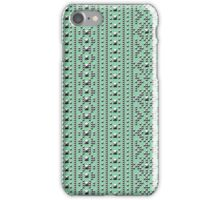Studded Southwest Stripe on Mediterranean Mint 1@50 iPhone Case/Skin