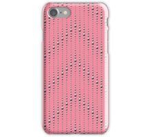 Studded Chevron Stripe on Coral Pink 1@50 iPhone Case/Skin