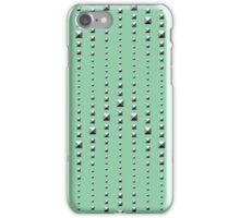 Studded Chevron Stripe on Mediterranean Mint 1 iPhone Case/Skin