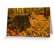 Fall Leaves Mosaic Greeting Card