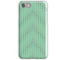 Studded Chevron Stripe on Mediterranean Mint 1@50 iPhone Case/Skin