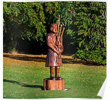 FORRES PIPER IN AUTUMN Poster