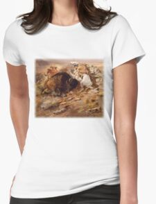 Charles M Russell - Buffalo Hunt Womens Fitted T-Shirt