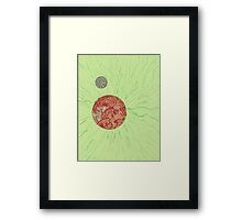 SpaceSunGreen Framed Print
