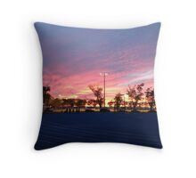 Sunset on the Racetrack Throw Pillow