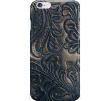 Worn Vintage Embossed Leather iPhone Case/Skin