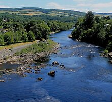 The River Tummel from the Dam at Pitlochry by Pat Millar