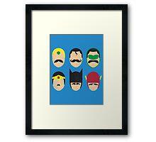Mustache League of America Framed Print