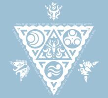 Waker of Winds Tri-Force White Kids Clothes
