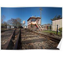 Railway Tracks & Signal Box Poster