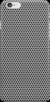 Silver Metal Screen Pattern by pjwuebker