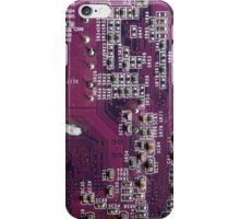 Red Electronic Circuit Board iPhone Case/Skin