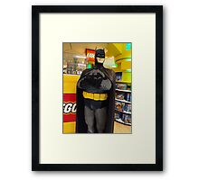 Batman Lego, FAO Schwarz Toy Store, New York City Framed Print