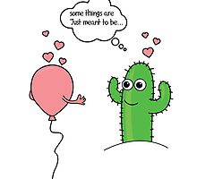 Some Things Are Just Meant to Be 'Cactus Love' Limited Edition Art Print by Creative Spectator