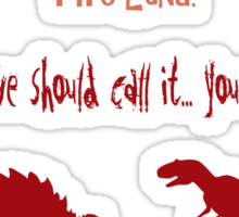 curse your sudden but inevitable betrayal, firefly, red Sticker