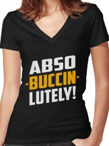 Abso-Buccin-Lutely Dark Women's Fitted V-Neck T-Shirt