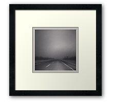 Winter Roads in the Prairies Framed Print