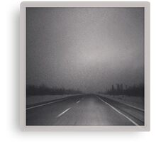Winter Roads in the Prairies Canvas Print