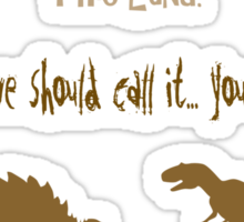 curse your sudden but inevitable betrayal, firefly, brown Sticker