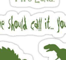 curse your sudden but inevitable betrayal, green, firefly Sticker