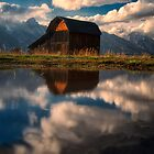 Mormon Row Barn Reflection  by KellyHeaton