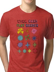 Work Hard Play Harder Tri-blend T-Shirt