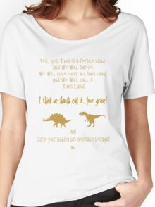 curse your sudden but inevitable betrayal, firefly, mustard Women's Relaxed Fit T-Shirt