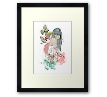 In the company of birds Framed Print