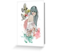 In the company of birds Greeting Card